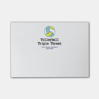 TOP Volleyball Triple Threat Post-it Notes