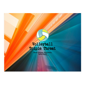 TOP Volleyball Triple Threat Postcard