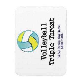 TOP Volleyball Triple Threat Rectangular Photo Magnet