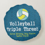 TOP Volleyball Triple Threat Round Pillow
