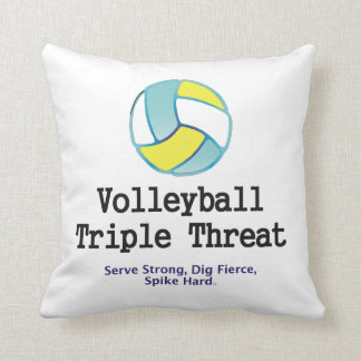 TOP Volleyball Triple Threat Throw Pillow