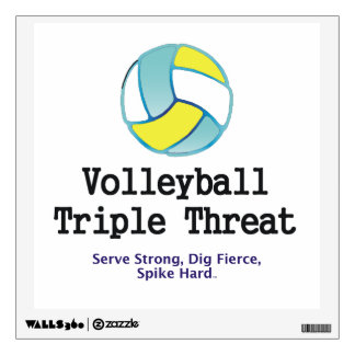 TOP Volleyball Triple Threat Wall Sticker