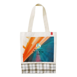TOP Volleyball Triple Threat Zazzle HEART Tote Bag
