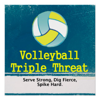 TOP Volleyball Triple Threat Perfect Poster