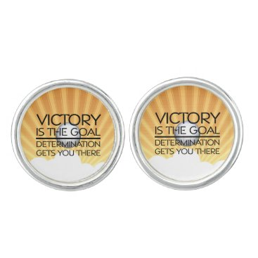 Beach Themed TOP Volleyball Victory Slogan Cufflinks
