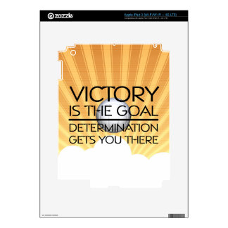 TOP Volleyball Victory Slogan Decal For iPad 3