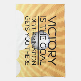 TOP Volleyball Victory Slogan Hand Towel