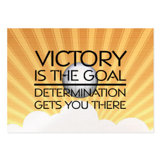 TOP Volleyball Victory Slogan Large Business Cards (Pack Of 100)
