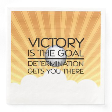 TOP Volleyball Victory Slogan Paper Dinner Napkin