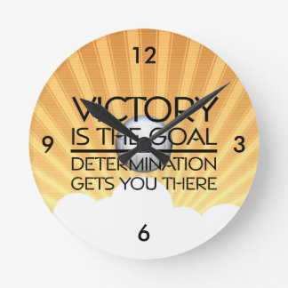 TOP Volleyball Victory Slogan Round Clock