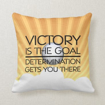 Beach Themed TOP Volleyball Victory Slogan Throw Pillow