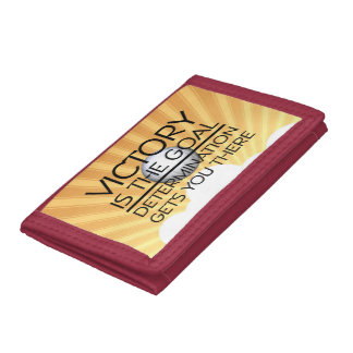 TOP Volleyball Victory Slogan Tri-fold Wallet