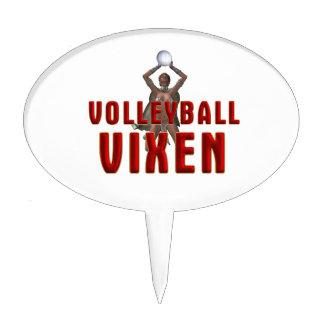TOP Volleyball Vixen Cake Topper