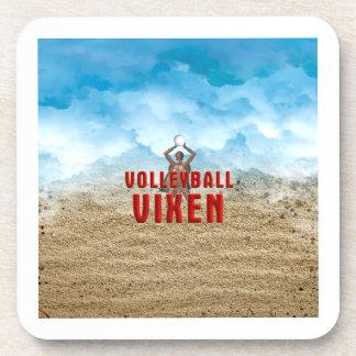 TOP Volleyball Vixen Drink Coaster