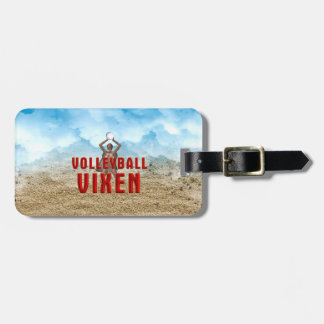 TOP Volleyball Vixen Luggage Tag