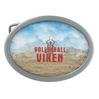 TOP Volleyball Vixen Oval Belt Buckle