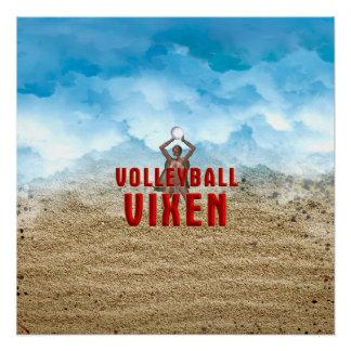 TOP Volleyball Vixen Poster