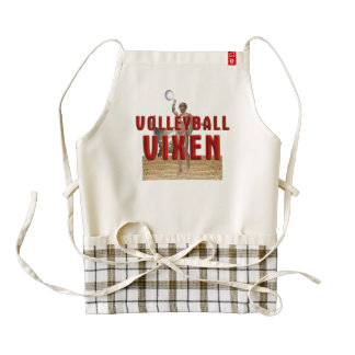TOP Volleyball Vixen Zazzle HEART Apron