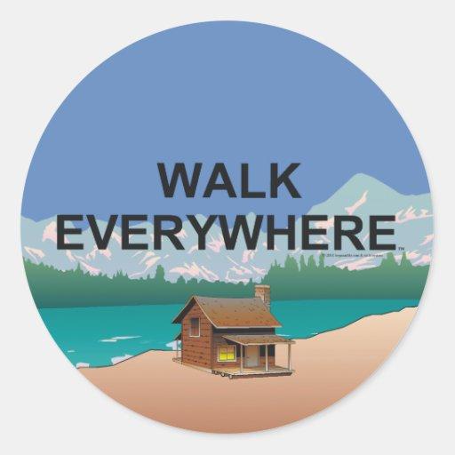 TOP Walk Everywhere Classic Round Sticker