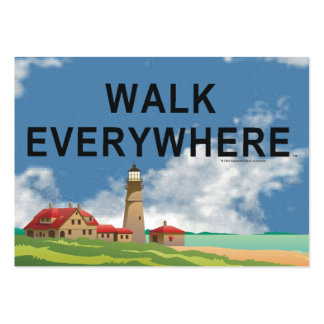 TOP Walk Everywhere Large Business Card