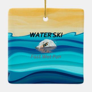 TOP Water Ski Ceramic Ornament
