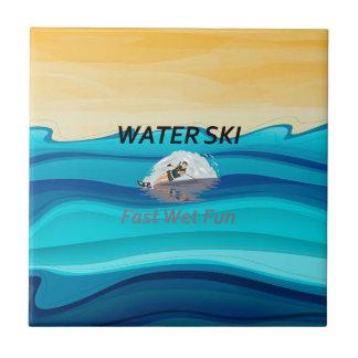 TOP Water Ski Ceramic Tile