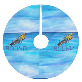 TOP Water Skiing Brushed Polyester Tree Skirt
