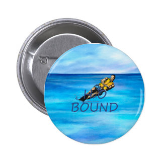 TOP Water Skiing Pinback Button