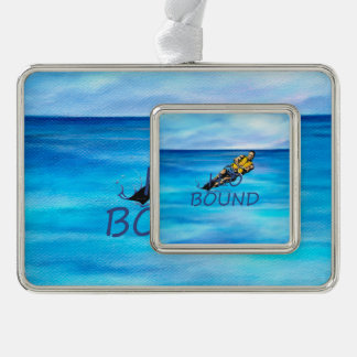 TOP Water Skiing Silver Plated Framed Ornament