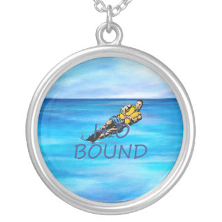 TOP Water Skiing Silver Plated Necklace