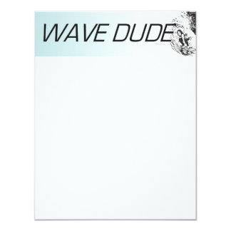 TOP Wave Dude 4.25x5.5 Paper Invitation Card