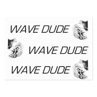 TOP Wave Dude Large Business Cards (Pack Of 100)