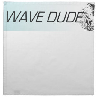 TOP Wave Dude Printed Napkins
