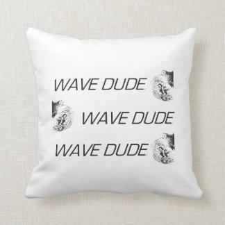 TOP Wave Dude Throw Pillows