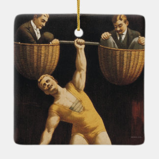 TOP Weightlifting Old School Ceramic Ornament