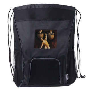 TOP Weightlifting Old School Drawstring Backpack