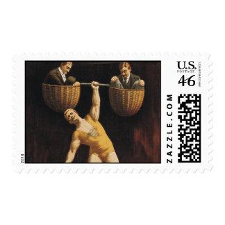 TOP Weightlifting Old School Stamp