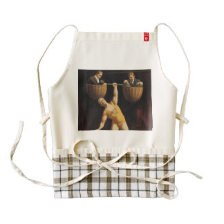 TOP Weightlifting Old School Zazzle HEART Apron