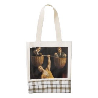 TOP Weightlifting Old School Zazzle HEART Tote Bag