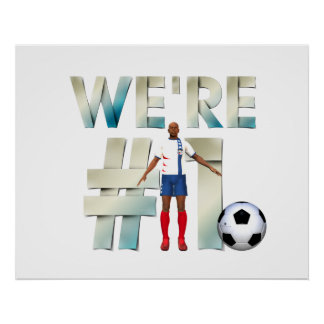 TOP We're #1 Soccer Poster