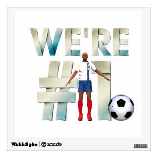 TOP We're #1 Soccer Wall Sticker