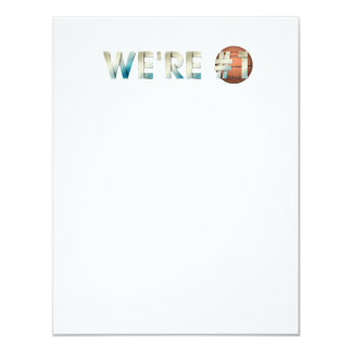 "TOP We're Number One Hoops 4.25"" X 5.5"" Invitation Card"