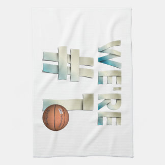 TOP We're Number One Hoops Kitchen Towels