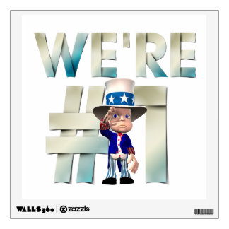 TOP We're Number One USA Wall Sticker