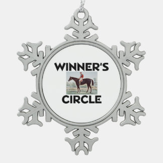 TOP Winner's Circle Snowflake Pewter Christmas Ornament