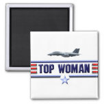 Top Woman Logo Magnets
