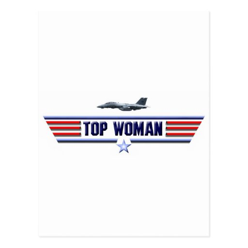 Top Woman Logo Post Cards