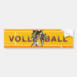 TOP Women's Volleyball Bumper Sticker