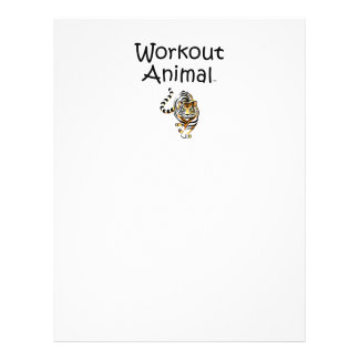 """TOP Workout Animal 8.5"""" X 11"""" Flyer"""