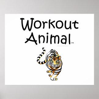 TOP Workout Animal Poster